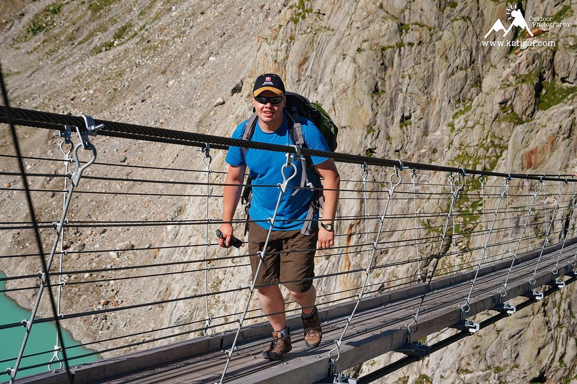 Wędrówka na most Triftbrucke, Szwajcaria