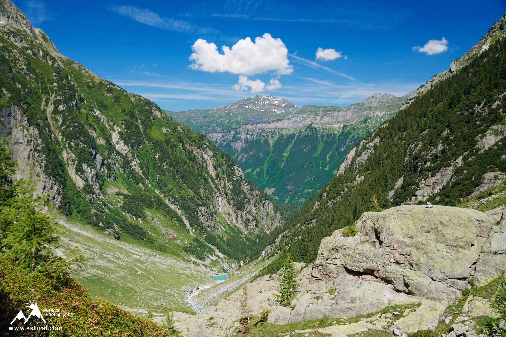 Wędrówka na most Triftbrucke, Szwajcaria, www.katiraf.com