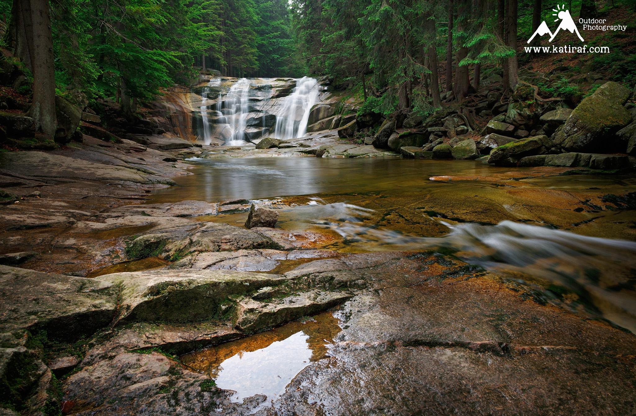 Wodospad Mumlavy, Karkonosze, Czechy www.katiraf.com