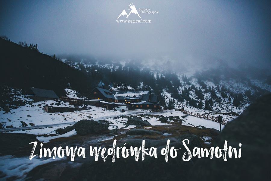 Zimowa wędrówka do Samotni, Karkonosze, www.katiraf.com