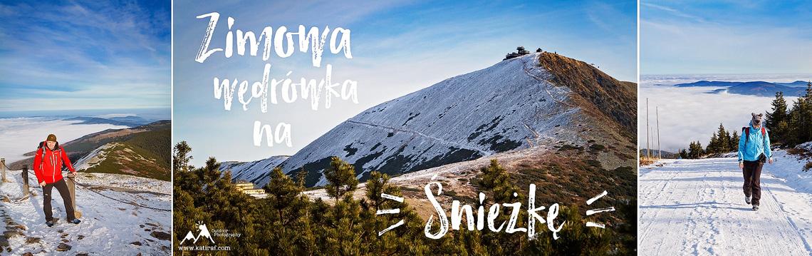 Zimowa wędrówka na Śnieżkę, Karkonosze www.katiraf.com