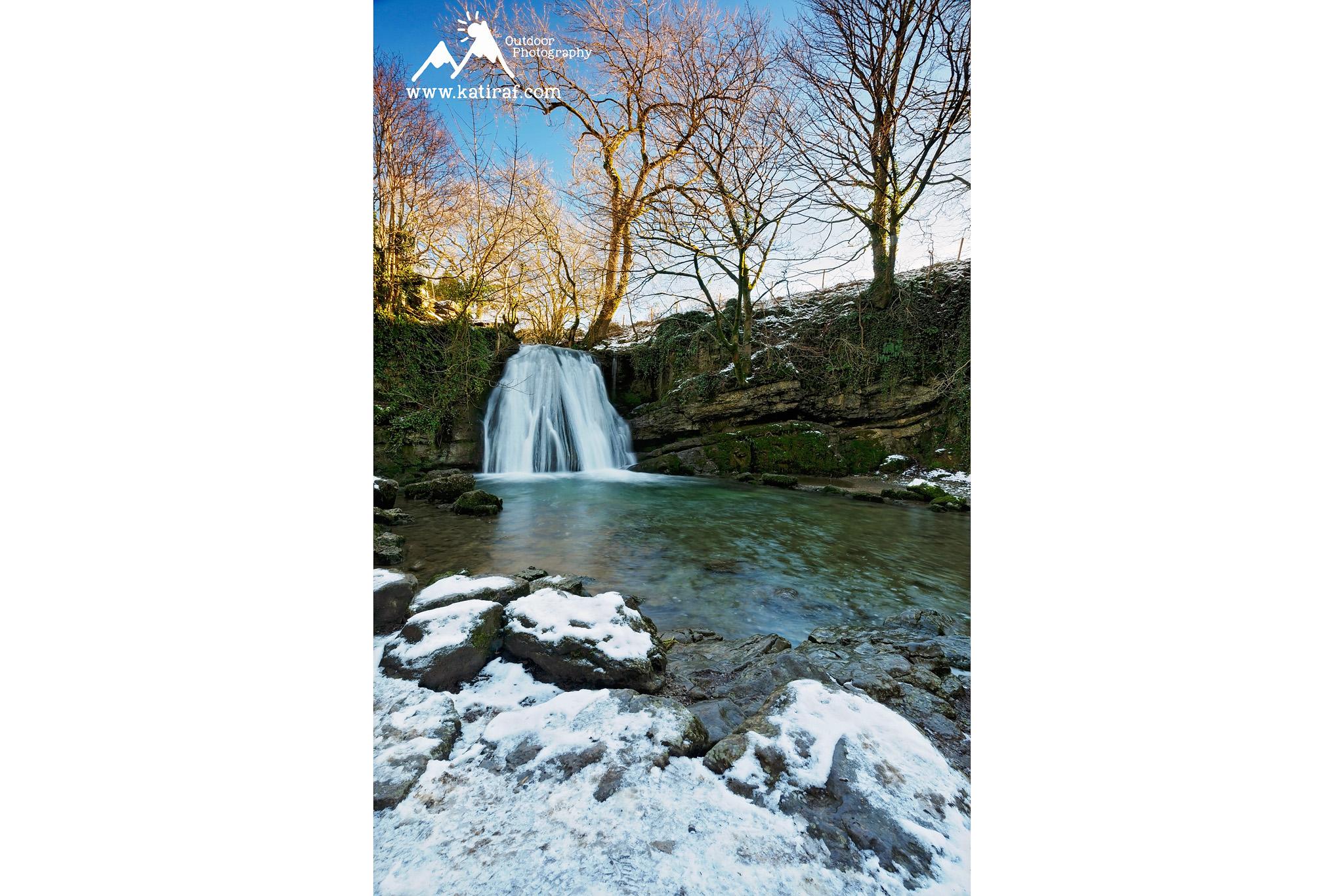 Wedrowka w Malham, wodospad Janet Foss, Yorkshire Dales, Anglia www.katiraf.com