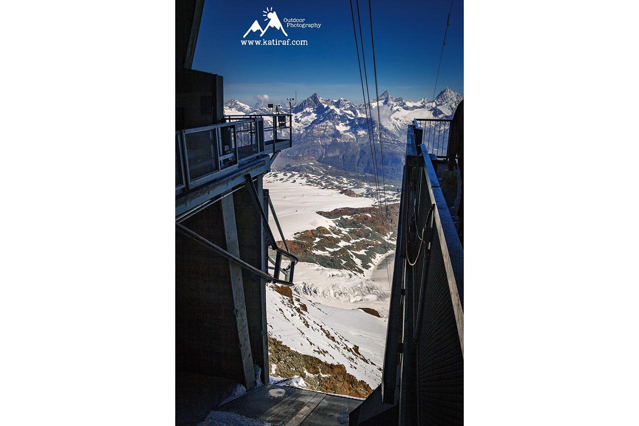 Zermatt, kolejka na Klein Matterhorn, Szwajcaria www.katiraf.com