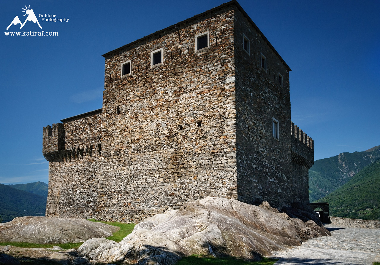 Trzy zamki Bellinzony, Unesco www.katiraf.com