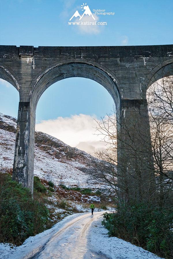 Wiadukt kolejowy Glenfinnan (Styczeń 2010)