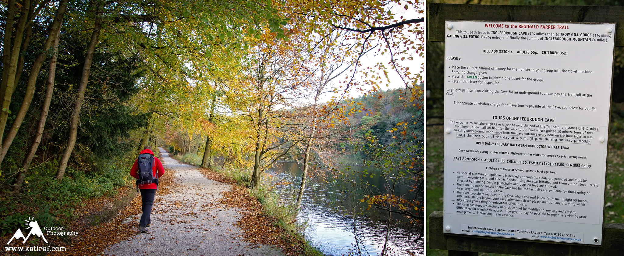 Wieś Clapham, droga do jaskinii Gaping Gill, www.katiraf.com