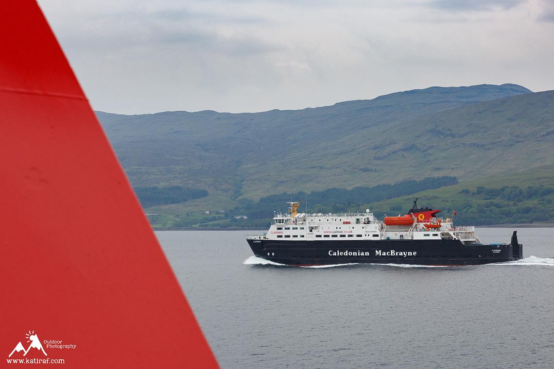 Prom z Oban do Castlebay, Szkocja, www.katiraf.com