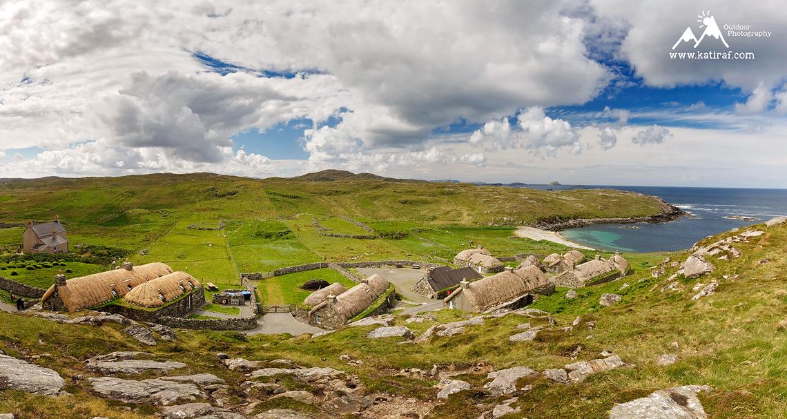 Wyspa Lewis, Czarne Chaty, Szkocja, www.katiraf.com