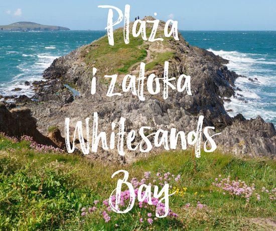 Plaża i zatoka Whitesands Bay, Pembrokeshire, Południowa Walia, www.katiraf.com