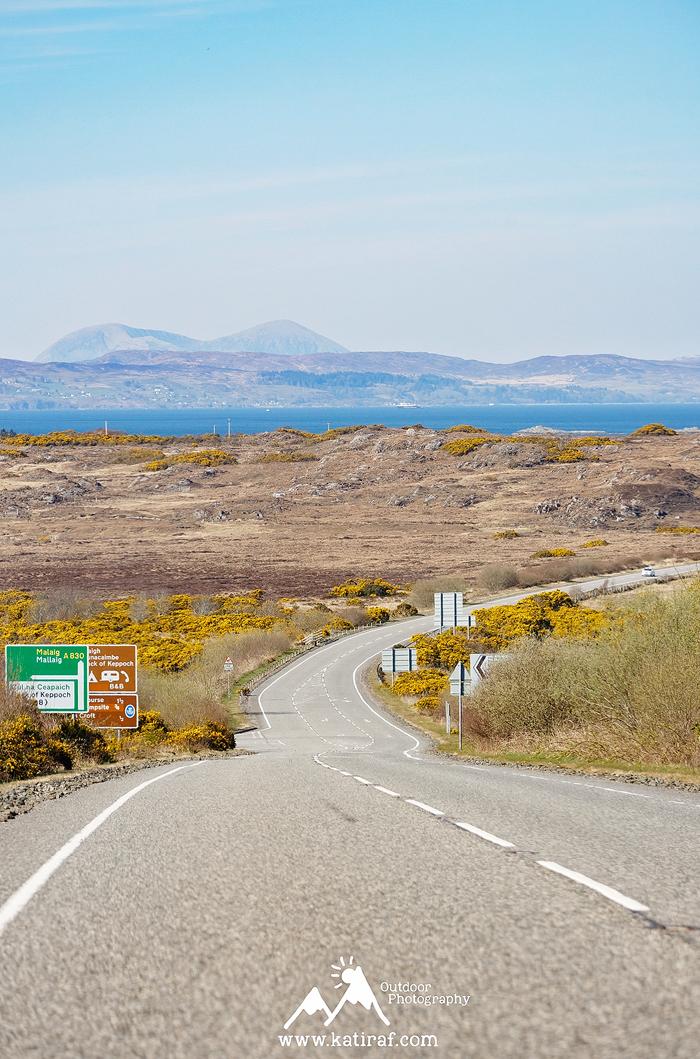 A830 droga widokowa z Fort William do Mallaig, Szkocja, www.katiraf.com