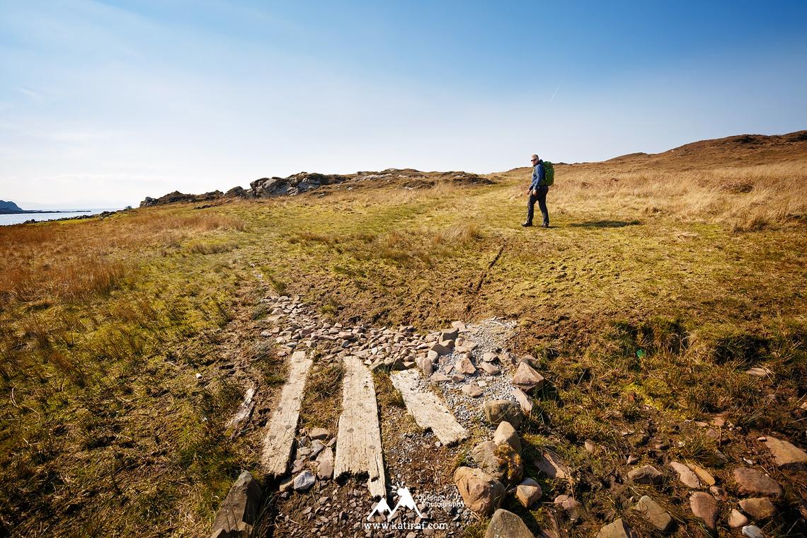 Zamek Dunscaith, wieś Tokavaig, Wyspa Skye, Szkocja katiraf.com