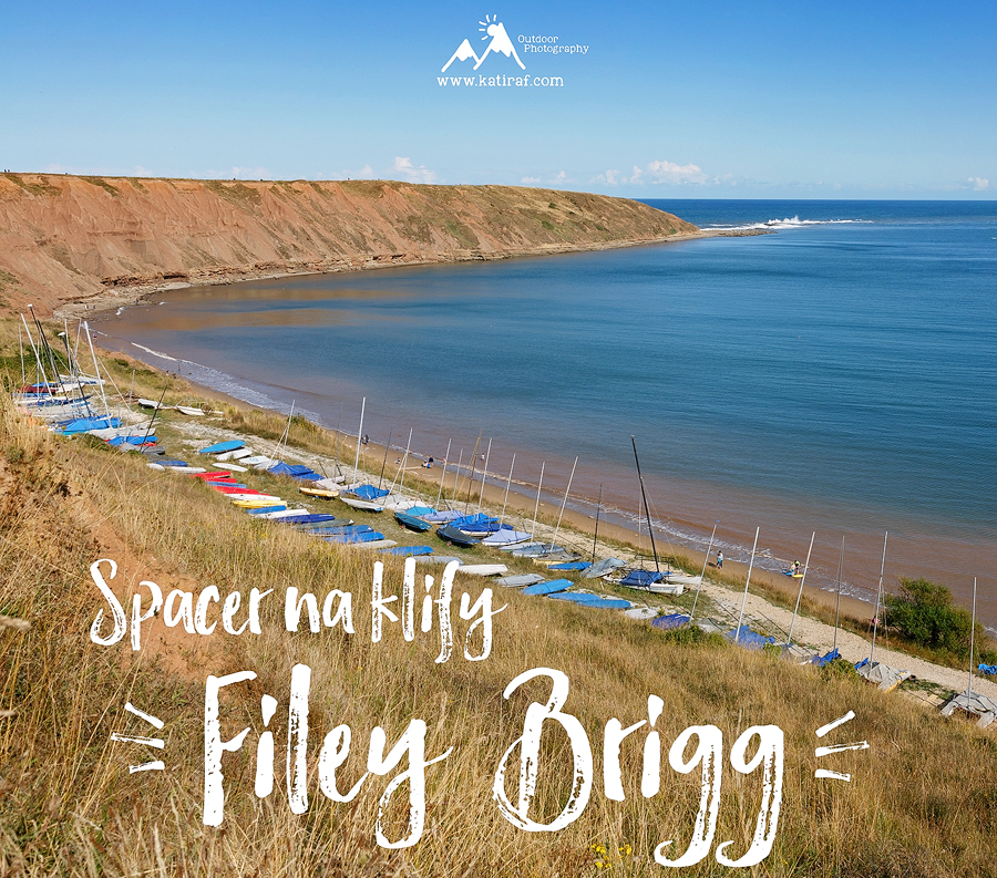Spacer na klify Filey Brigg, Yorkshire, www.katiraf.com