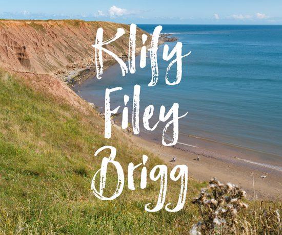 Spacer na klify Filey Brigg, Yorkshire, www.katiraf.com