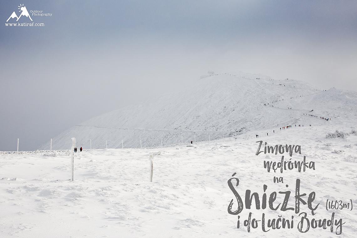Zimowa wędrówka na Śnieżkę i do Lucni Boudy, Karkonosze, www.atiraf.com