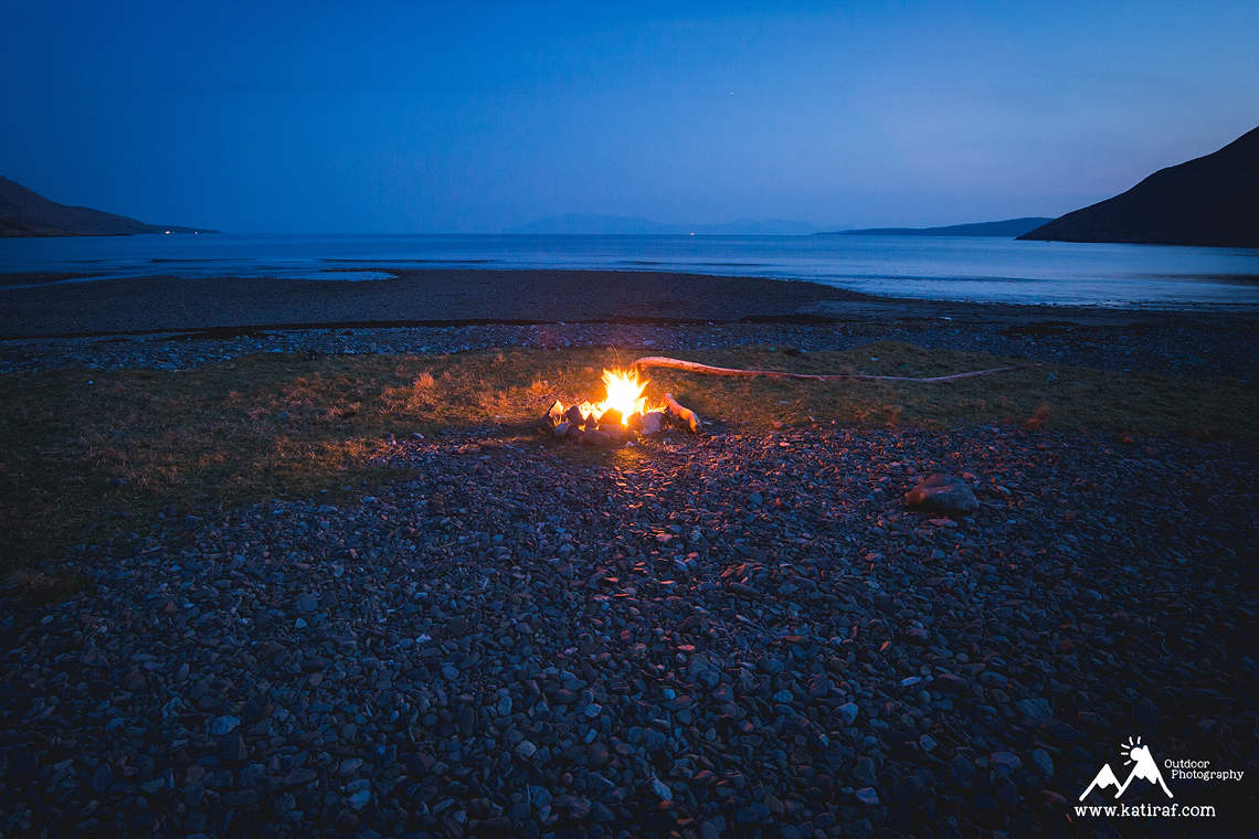 Plaża Camasunary Bay Wyspa Skye, wędrówka i wild camping, katiraf.com