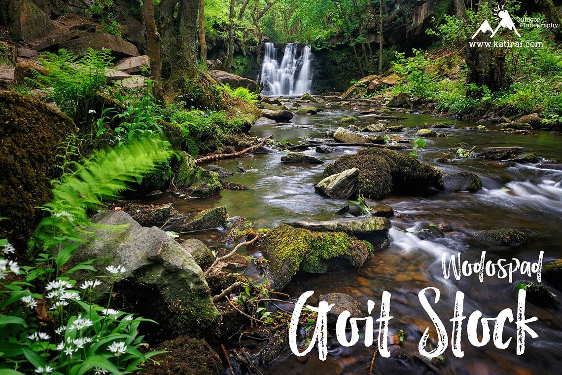 Wodospad Goit Stock Waterfall, West Yorkshire