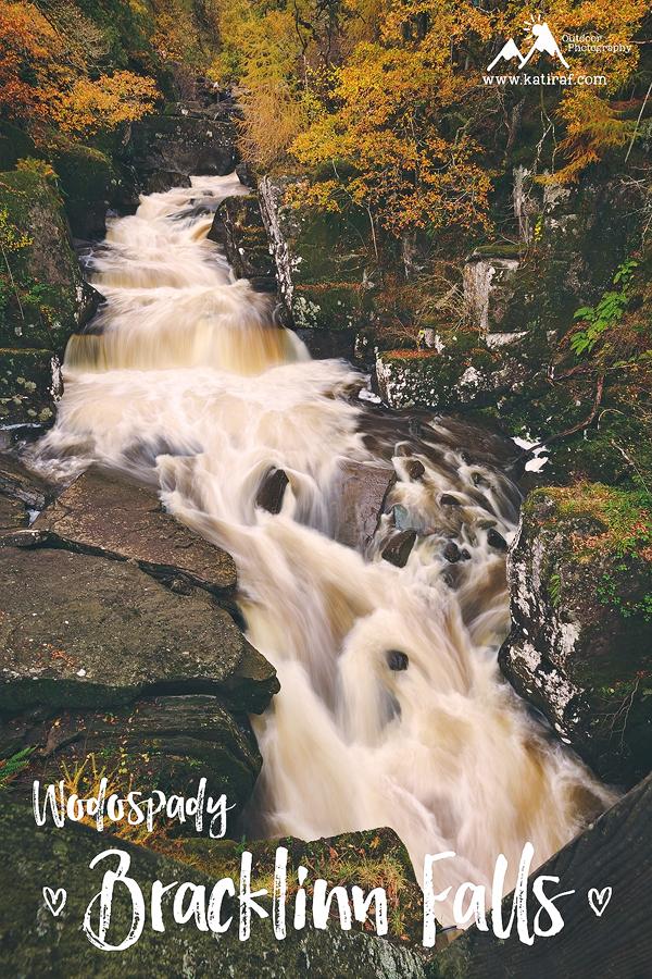 Wodospady Bracklinn Falls, Callander, Szkocja www.katiraf.com