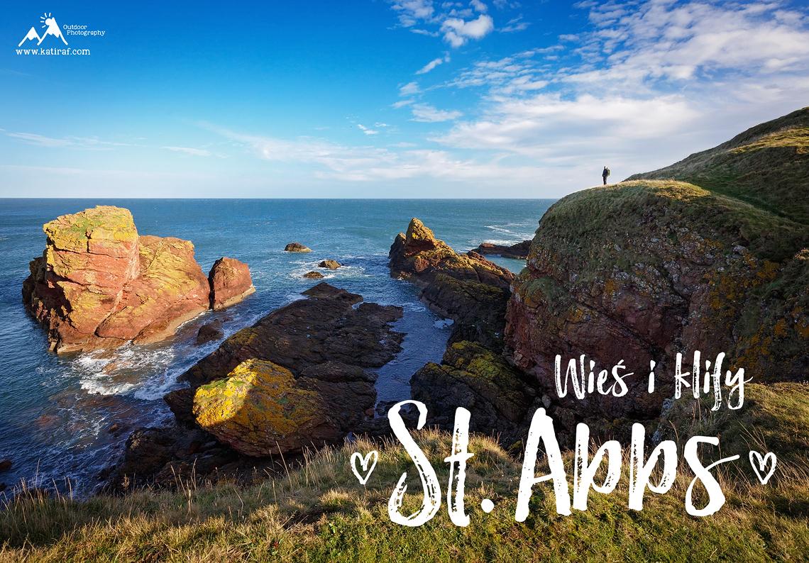 Wieś i klify St. Abbs, Berwickshire, Szkocja www.katiraf.com