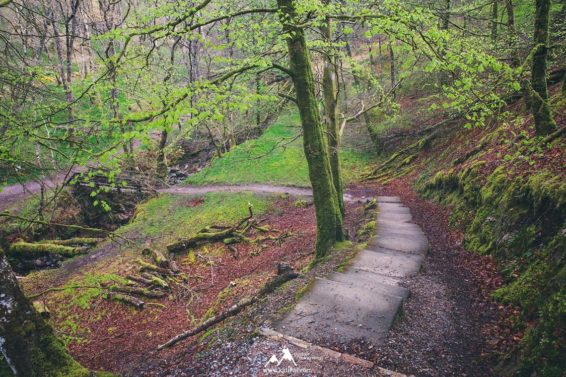 Wodospad wodospad Grey Mare's Tail, Szkocja katiraf.com